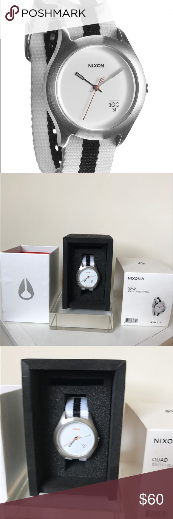 Nixon Watch Great Nixon watch Quad ⌚️ in great condition. Comes with the original box 📦 and watch instructions. The battery has expired, but I am willing to provide the replacement and ensure this is in working condition. Don't let this deal go by! Make an offer! Nixon Accessories Watches