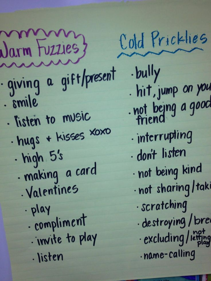 Ms. Sepp's Counselor Corner: Warm Fuzzies & Cold Pricklies