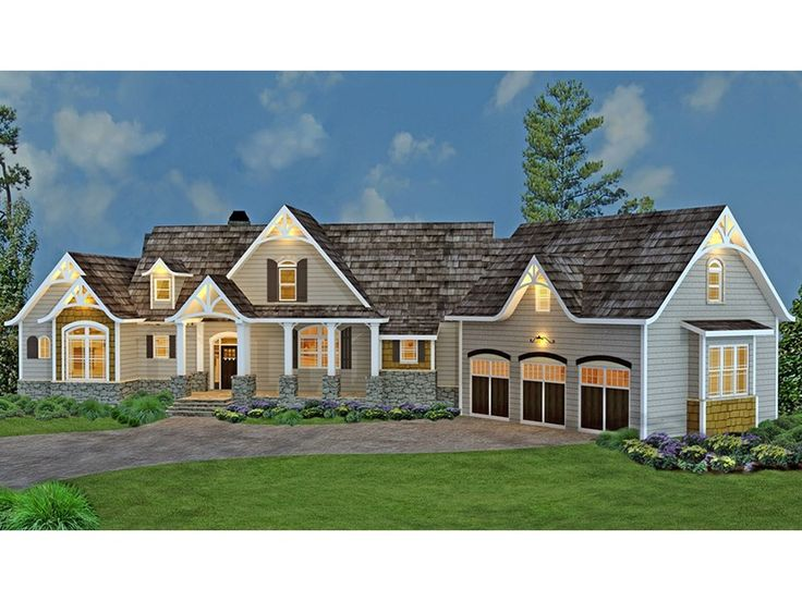 House Plan Spacious Ranch With Bonus Second Floor In Law Suite