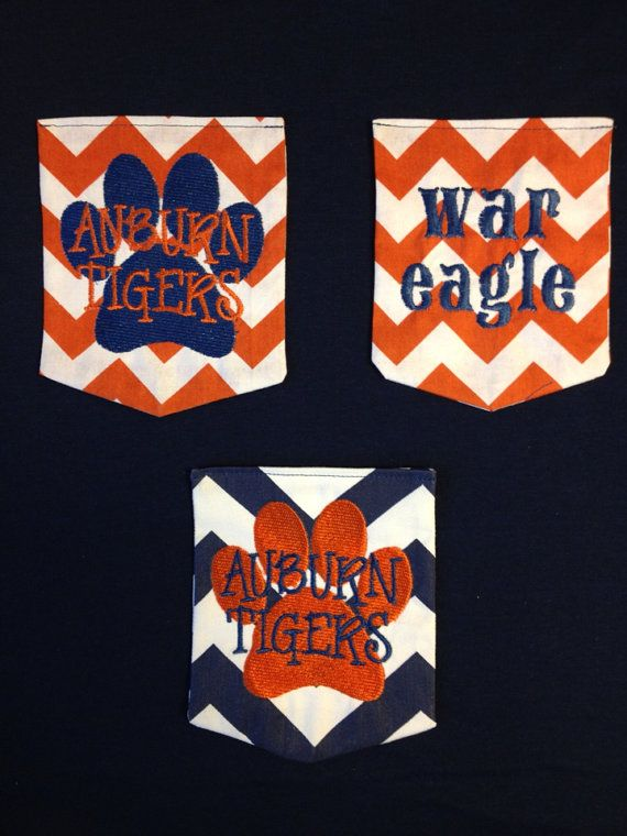 Auburn Pocket Tee / Tshirt Short Sleeve By BabyLulaBelles On Etsy, $20.00  Nanna Likes The