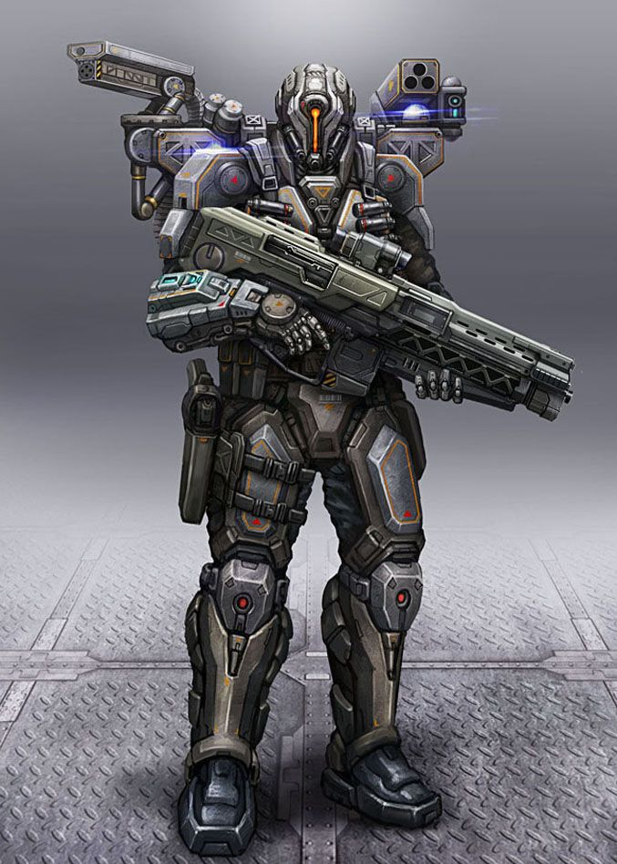 Cyborg Soldier by AlienTan on deviantART