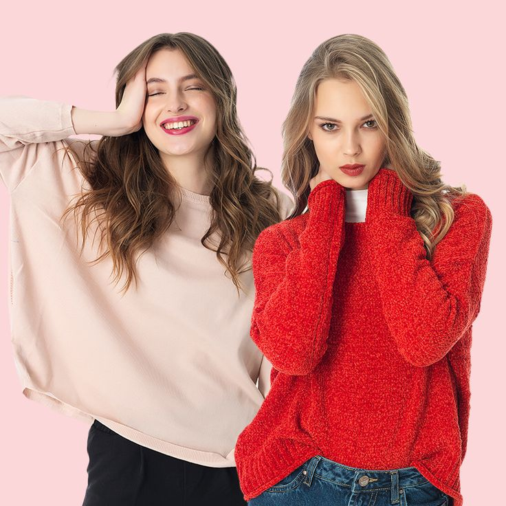 Cozy knitwears are must for an all day casual look. #knitwear #knitting #fashion #girl #fashionable #pinkwoman