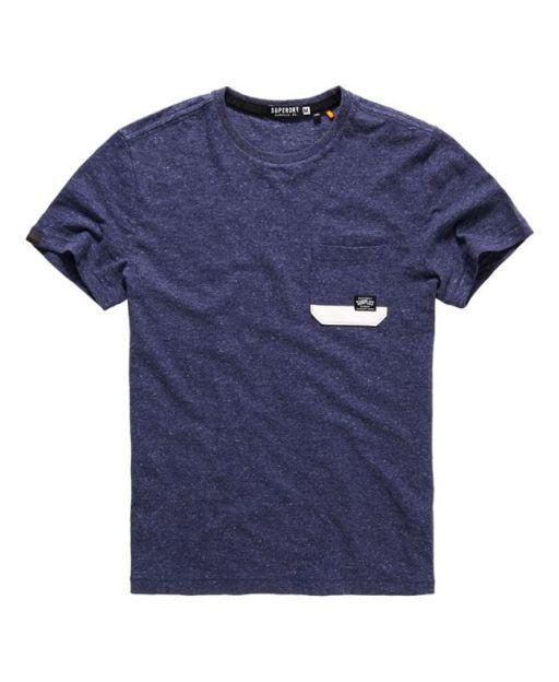 Superdry T-shirt Surplus Goods Pocket Bleu Marine