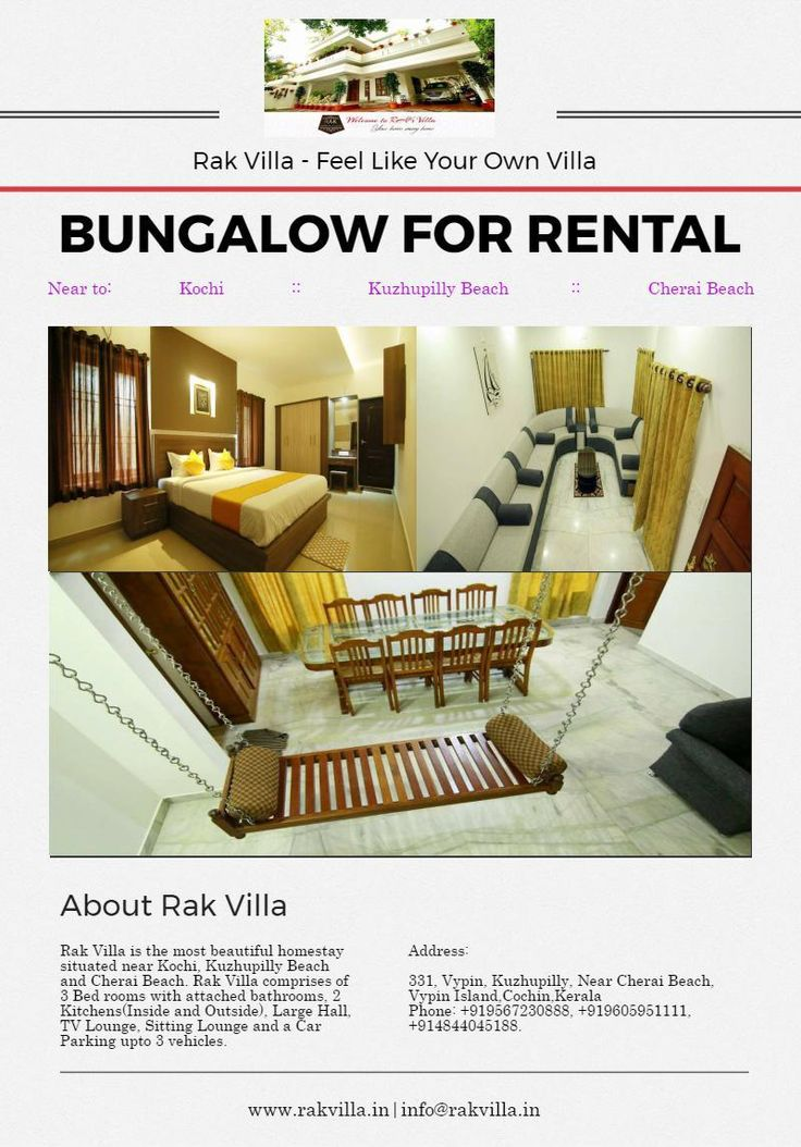 Rak Villa - Kerala's one of the big villa most suitable for family stays and honeymoon couples. For booking, visit our website.