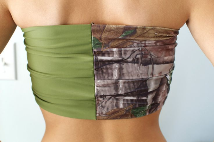 Real+Tree+Camo+and+Hunter+Green+Bandeau+Top+Spandex+by+Sidewalk616,+$27.00