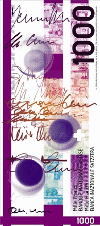 Swiss Bank note by Grüninger Hans, Zurich