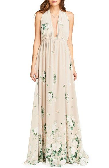 Show Me Your Mumu Luna Halter Gown available at #Nordstrom