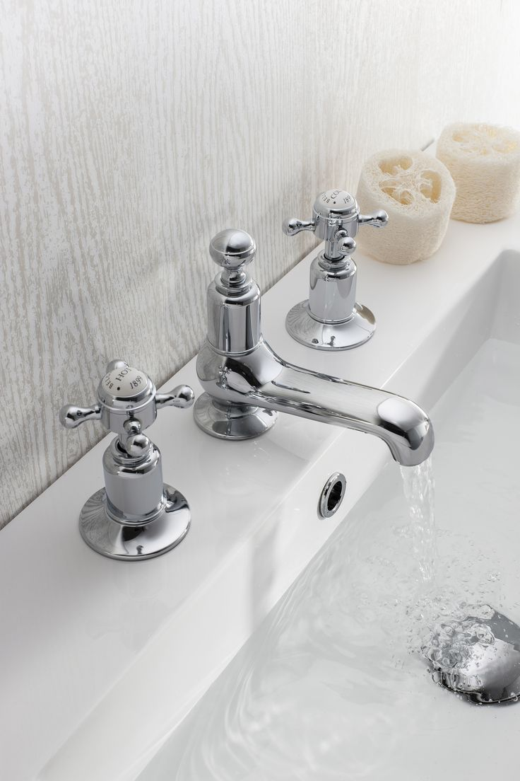 shades bathroom furniture uk%0A Belgravia Crosshead Bathroom Basin   Hole Tap Set from Crosswater  http   www