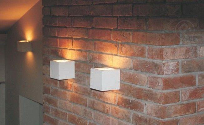 Lampa Cleoni ścienna kinkiet KUBIK 1038A biały mat struktura