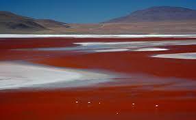 Laguna de colores en chile, LAGUNA ROJA.