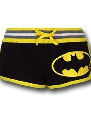 Batman Women's Striped Logo Short Shorts