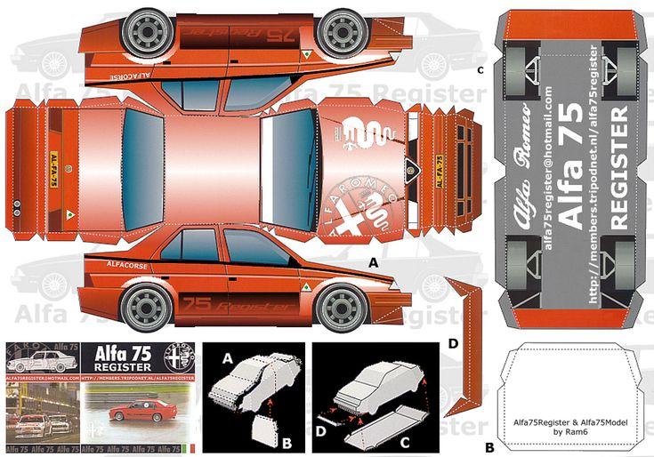 paper models trans am    Papírové modely Alfa Romeo   Squadramoravia.com