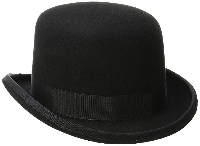 3d896b295ad84 SCALA BOWLER DERBY - QUALITY Wool Satin Lined Derby Hat (Small, Black)
