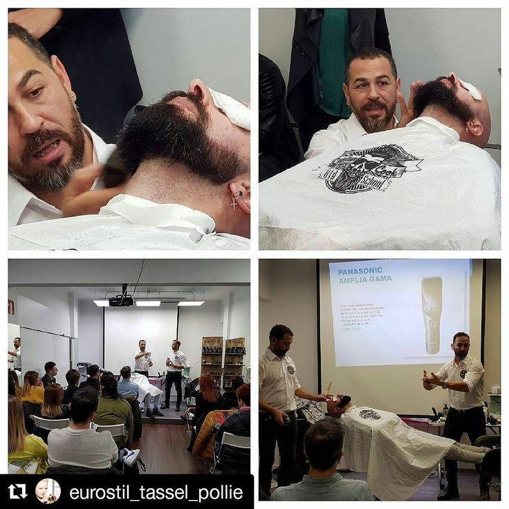 #Repost @eurostil_tassel_pollie (@get_repost)  Hoy os dejamos imágenes de nuestro Curso de barbería patrocinado por Panasonic y que ha tenido lugar en Santander #captaincook #barberline #eurostil #barberia #style #belleza #industriasoriol #peluqueria #beard