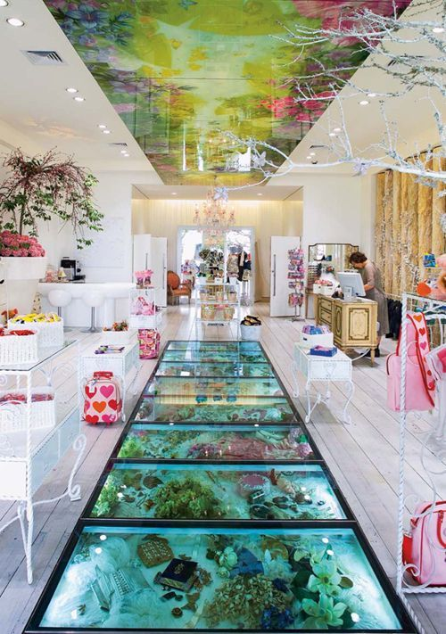 A pretty, dreamy and charming wonderland is Trelise Cooper's Kid's store.    Designed by Adrian Nancekivell Design with advertising agency Saatchi & Saatchi.