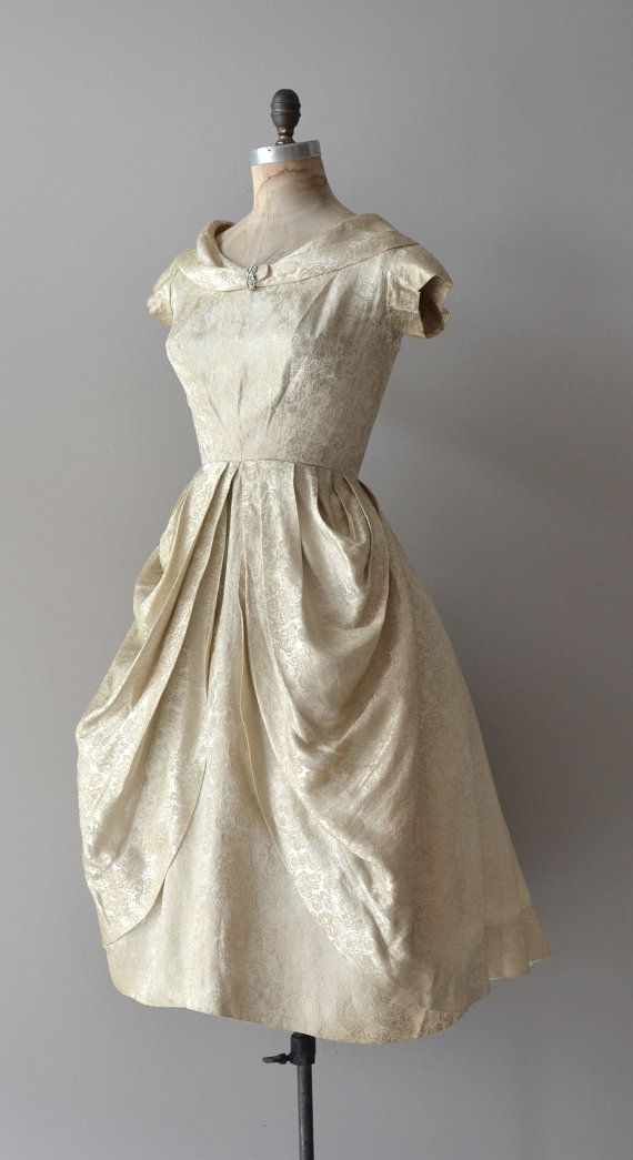 Incandescent Light dress vintage 1950s dress by DearGolden