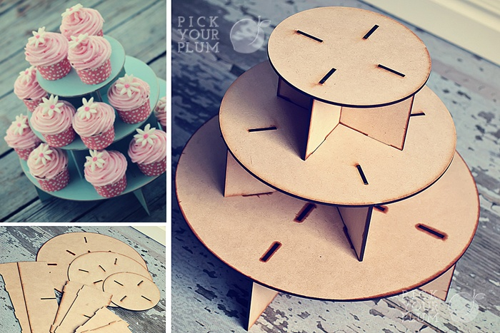 Cupcake Stand. Easy enough to make with the lasercutter
