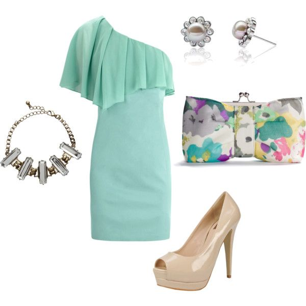 perfect wedding guest outfit, created by desnarose