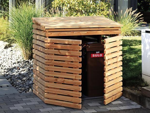 Briefkasten Holz Bauanleitung ~  Mülltonnenbox holz, Mülltonnenverkleidung und Mülltonnenhaus