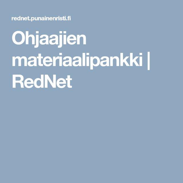 Ohjaajien materiaalipankki | RedNet