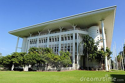 Stock Photo: Parliament House in Darwin, capital of Northern Territory, located in the Tropical North of Australia.