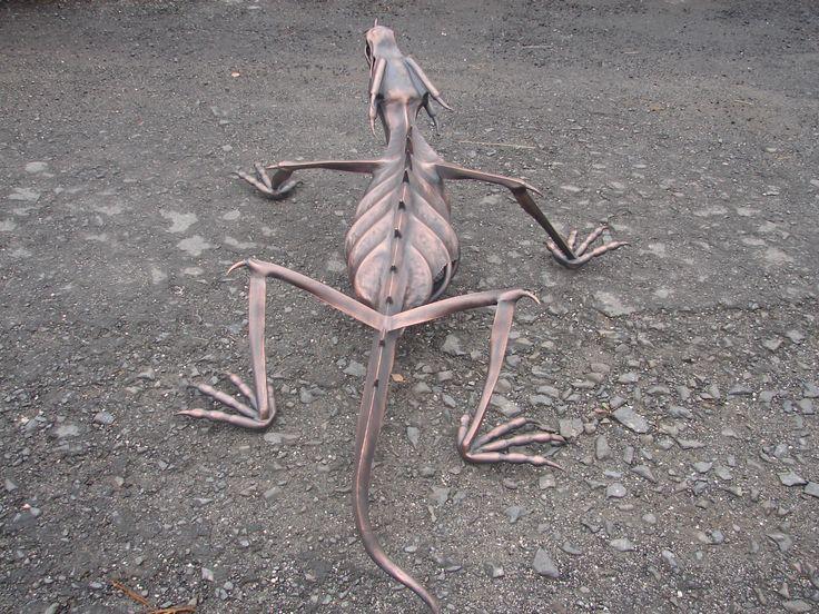 DRACOSAURUS metal sculpture - Alexandr Pleskač