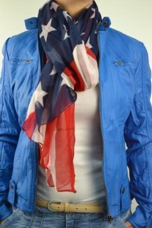 American flag scarf - Amerikaanse vlag sjaal - Kenza Moda