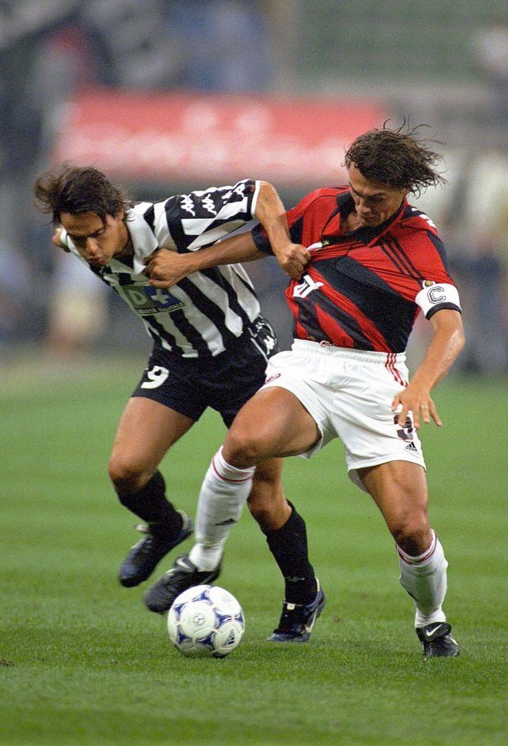 Pippo Inzaghi vs. Paolo Maldini.