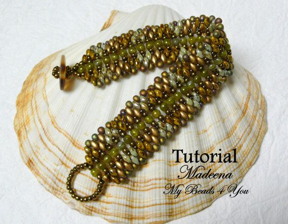 PDF Beading Tutorial Superduo Bracelet Pattern by mybeads4you