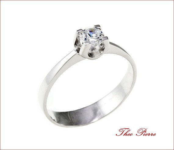 Wedding Ring, Gold 14K, Solitaire Ring