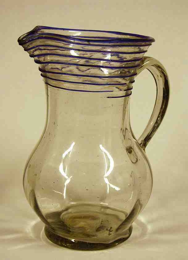 Glass pitcher from Kingdom of Hungary / Transylvania, beginning of 19th century. Ottó Herman Museum, Miskolc, Hungary.