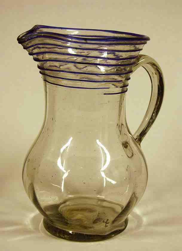 Glass pitcher from Kingdom of Hungary / Transylvania, beginning of 19th century. Ottó Herman Museum, Miskolc, Hungary.