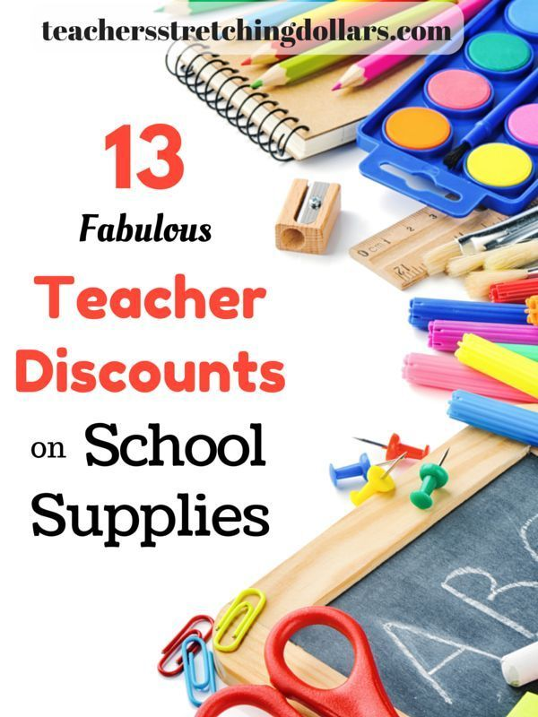 Save your hard earned dollars by taking advantages of these teacher discounts on school supplies.  And...for more teacher discounts, deals, and money saving tips check out http://www.teachersstretchingdollars.com/