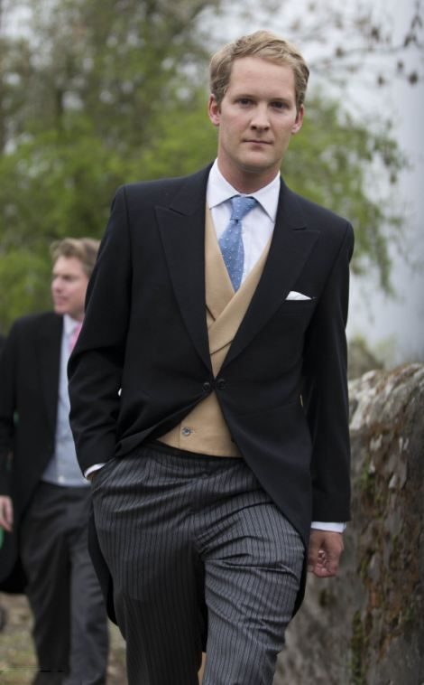 Earl George Percy, son of the Duke of Northumberland, was another guest at the high-profile wedding in rural Scotland on 26.04.2014