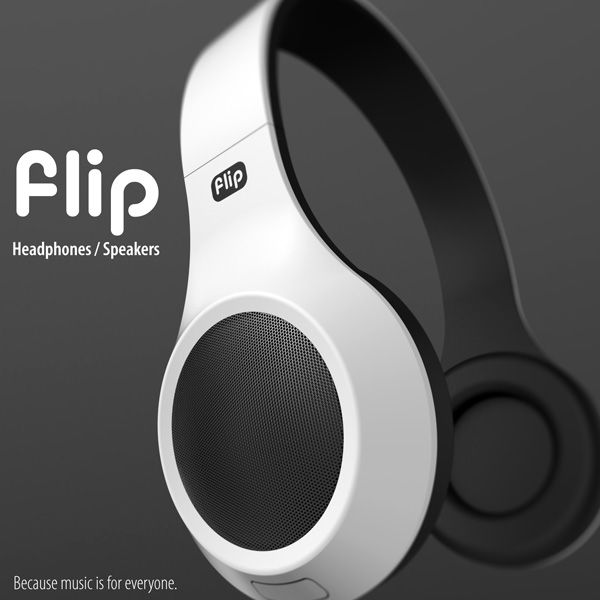 The Flip Headphones by Oliver Sha
