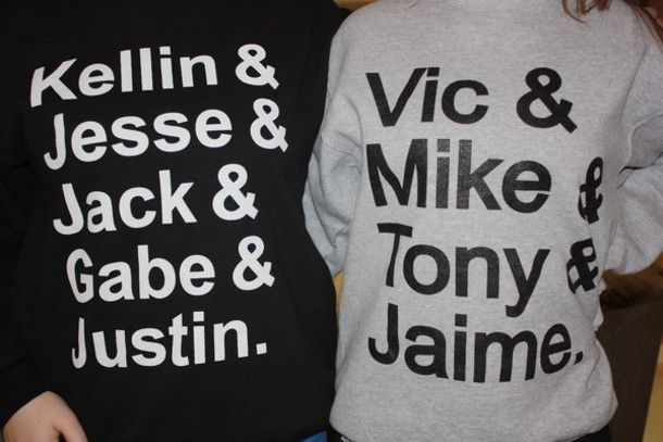 pierce the veil and sleeping with sirens quotes   Sweater: bands, music, pierce the veil, ptv, sws, sleeping with sirens ...
