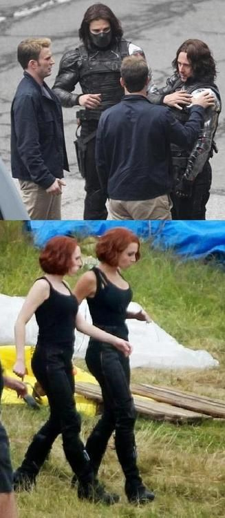 Captain America: The Winter Soldier. Actors and their stunt doubles.