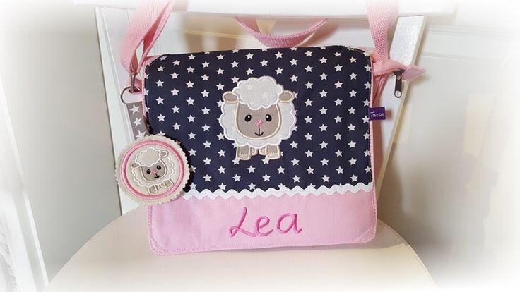 Kindergartentaschen - Kindergartentasche Schultertasche SCHAF Name - ein Designerstück von Tante-Ninna bei DaWanda