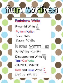 """FREE LANGUAGE ARTS LESSON - """"Fun Writes for Spelling and Word Work"""" - Students practice spelling word or sight words is]n a fun way!   Go to The Best of Teacher Entrepreneurs for this and hundreds of free lessons.  #FreeLesson    #TeachersPayTeachers   #TPT   #Language Arts    http://thebestofteacherentrepreneurs.blogspot.com/2013/03/free-language-arts-lesson-fun-writes.html"""