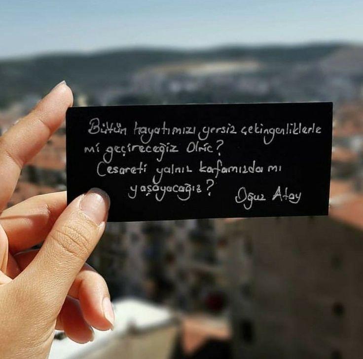 Bütün hayatımızı yersiz çekingenliklerle mi geçireceğiz Olric? Cesareti yalnız kafamızda mı yaşayacağız? - Oğuz Atay / Tutunamayanlar #sözler #anlamlısözler #güzelsözler #manalısözler #özlüsözler #alıntı #alıntılar #alıntıdır #alıntısözler #şiir #edebiyat #kitap #kitapsözleri #kitapalıntıları