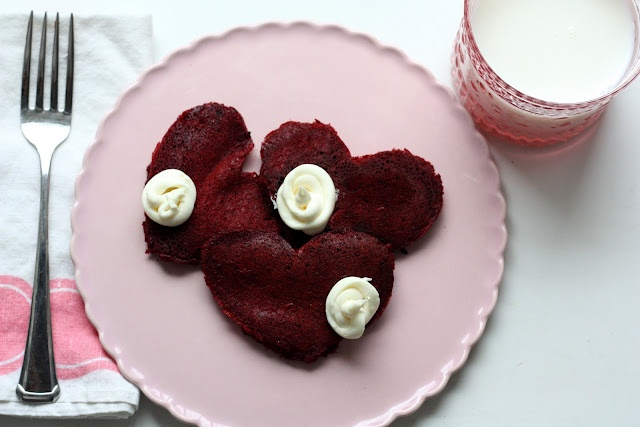 how to make red velvet pancakes with cake mix