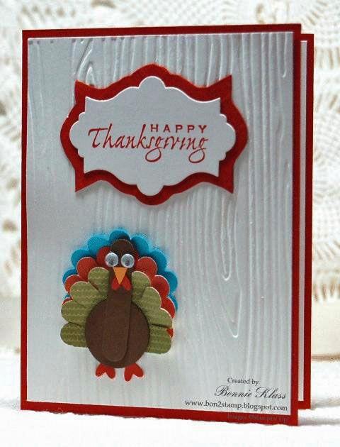 SU! Punch art turkey.  Cute!