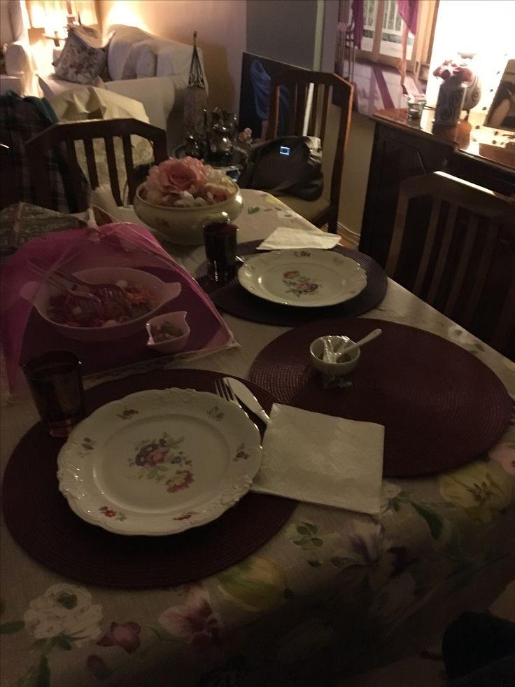 Dinner table setting idea