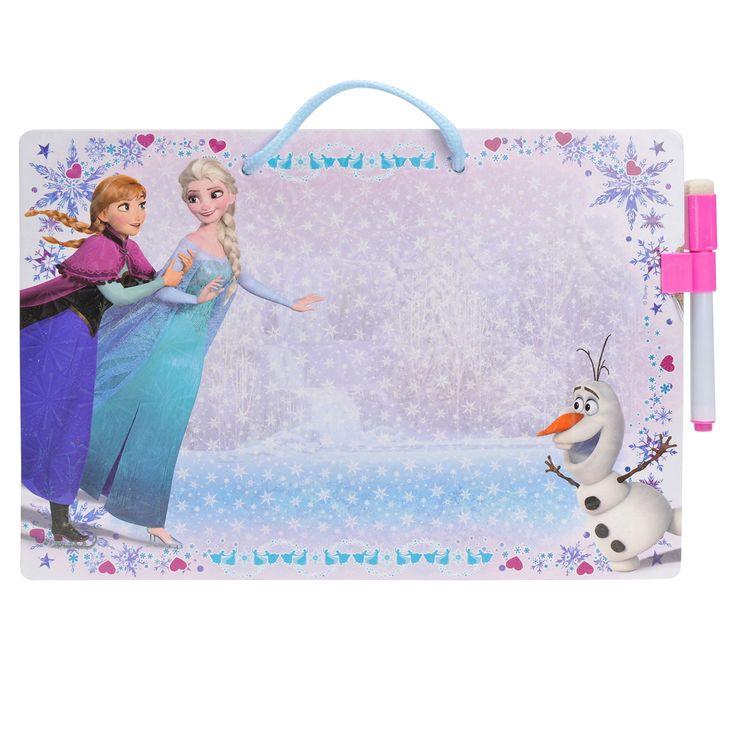 Disney Frozen memobord met stift en inktwisser. Afmeting:bord 28,5 x 20 cm - Disney Frozen Memobord