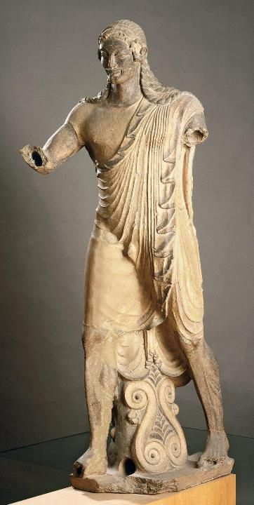 Вулка. Аполлон из Вей. Терракота. Ок. 500 г. до н.э.