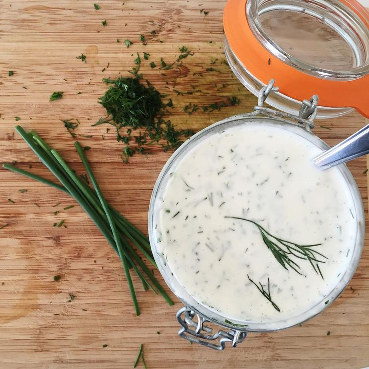 Ranch Dressing 1 Cup homemade mayo, see previous post 2 cloves of garlic 1 TBSP fresh parsley 1 TBSP fresh dill 1.5 TSP fresh chives 2 TBSP lemon juice (check the label for sulfites if you are using store bought) 1/8 TSP paprika 1/2-1 TSP fresh cracked black pepper  # Combine all ingredients and enjoy! #whole30 #whole30recipes