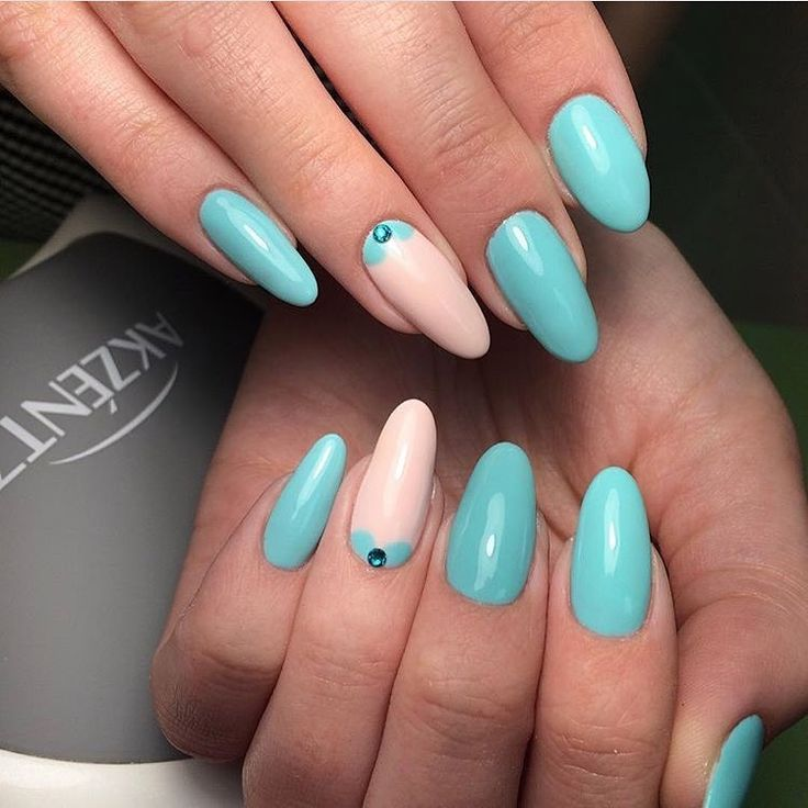 Almond-shaped nails, Bright nails ideas, Evening nails, Everyday nails, Long nails, Nails ideas 2017, ring finger nails, Trend nails