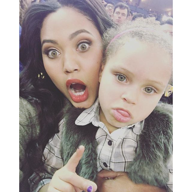 Riley and Ayesha Curry pose together for a funny Instagram.