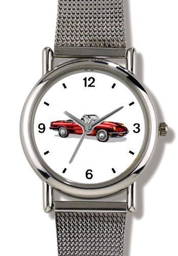 Vintage Red Sports Car No.2 - WATCHBUDDY® ELITE Chrome-Plated Metal Alloy Watch with Metal Mesh Strap-Size-Small ( Children's Size - Boy's Size & Girl's Size ) WatchBuddy. $79.95. Save 37%!