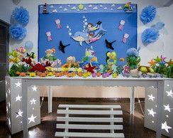 Kit Decoração Festa Fundo do Mar